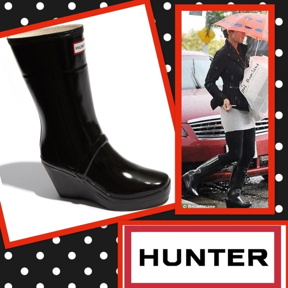 cc4b69f1711 Hunter Shoes - HUNTER Kellan Short Wedge Rain Boots 9